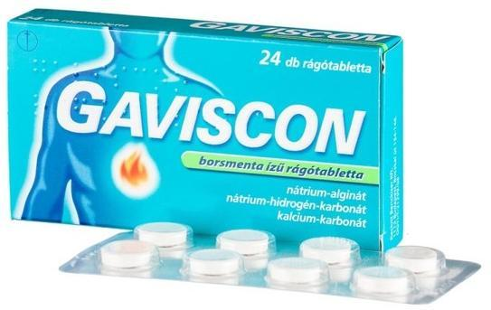 Gaviscon borsmenta ízű rágótabletta 24x