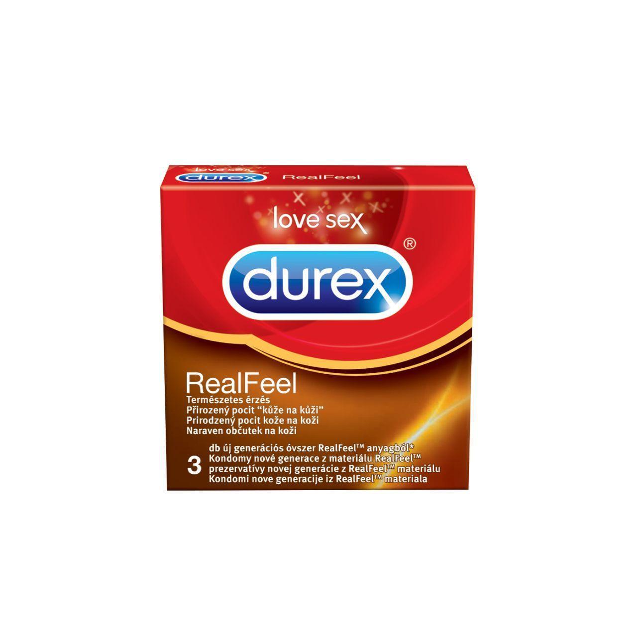 Óvszer Durex Real Feel 3x