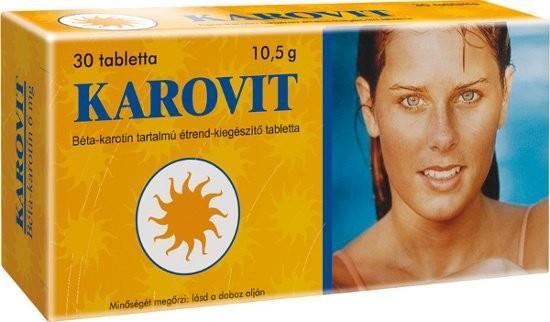 Béta-karotin KAROVIT tabletta 30x