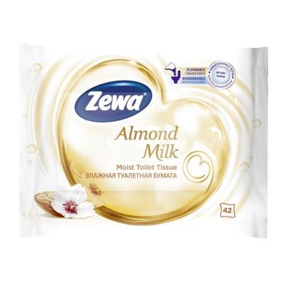 Toalettpapír Zewa Almond Milk nedves 42x