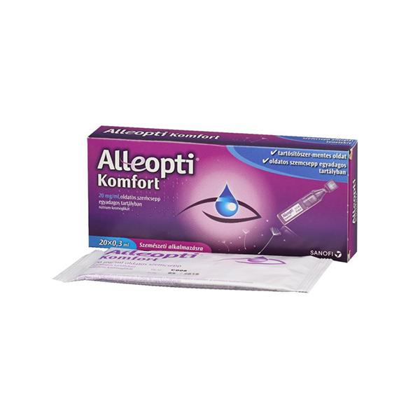 Alleopti Komfort 20 mg/ml old.szemcsepp egyad.t. 20x