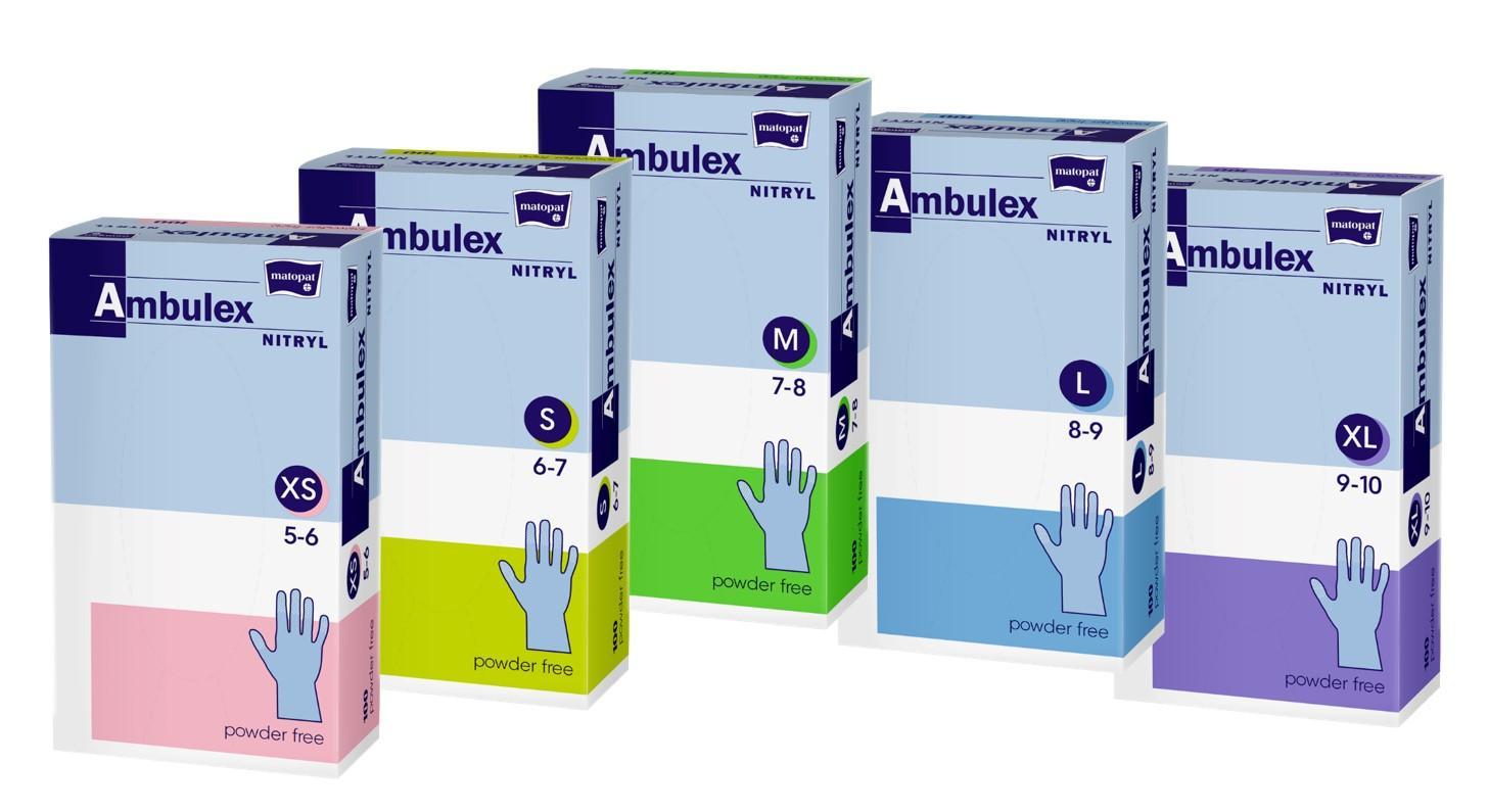 Vizsgálókesztyű nitril AMBULEX lila L 100x