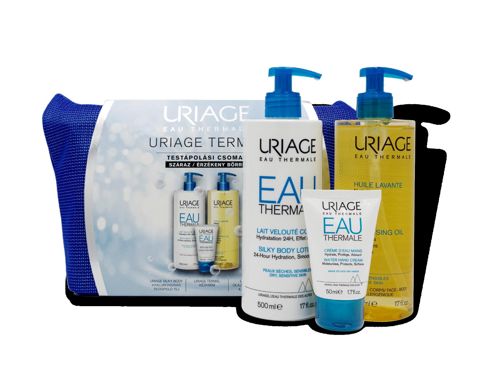 Uriage Termál Testápolási Csomag Száraz/Érzékeny Bőrre 1x